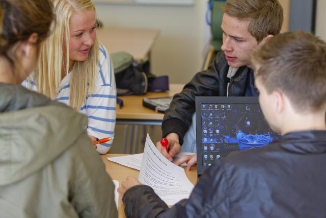 Studerande elever.