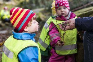 På Möllarps naturförskola får barnen vistas mycket utomhus i naturen. Foto.