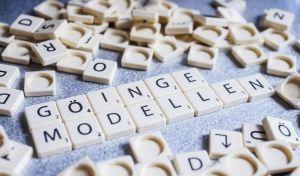 Ordpussel som formar ordet Göingemodellen.