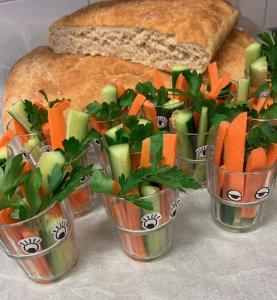 Bröd och grönsaksstavar