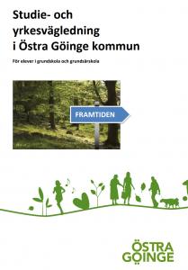 Omslagsbild till broschyren Studie- och yrkesvägledning i Östra Göinge kommun.