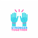 Logotyp Stronger Together.