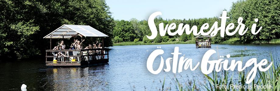 Bryggbåtar på Helge å en sommardag. Foto: Precious People