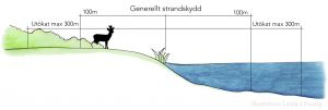 Illustration strandskydd.