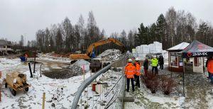Bild över området där ny- och ombyggnation ska ske.