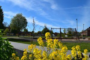 Bild på lekplatsen i Hanaskog.