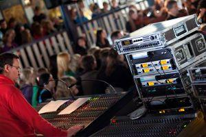 Ljudteknik vid show med musik av ABBA